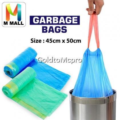 M MALL Garbage Bag Office Cleaning Rope (15pcs/Roll) 45cm x 50cm (Random Color)/32 X40 CZT (Black)/45cm x 50(30pcs/Roll)
