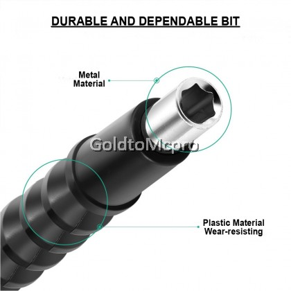 Universal Flexible Shaft Electronic 295mm Extension Screwdriver Drill Bit Holder (1pcs)