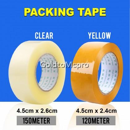 OPP Clear & Yellow Tape /Packaging/ Sealing/ Adhesive Tape (150meter / 120meter)