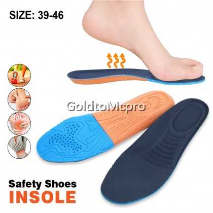 Polyurethane soft foam comfortable high elastic shock absorption thickening labor protection shoes special insole (1pair)