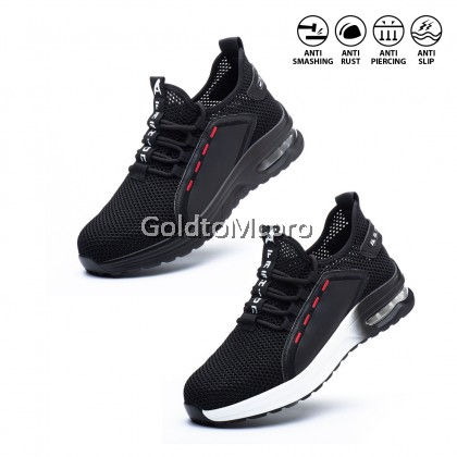 Safety Shoes Sport Shoes Wear-Resistant Anti-Smashing Anti-Piercing Safety Protective Shoes -795 BLACK & 796 BLACK WHITE