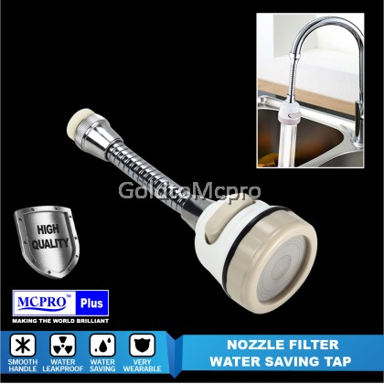 Water Saving TAP 360° Rotation Flexible Water Saving Tap Pressurized Bubbler For Kitchen Shower Nozzle Filter - F105