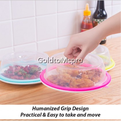Multi-functional food cover for Refrigerator and Microwave Fresh-keeping Cover Transparent Bowl Cover Sealed Oven Heating Microwave Plate Cover Microwave Splatter Cover