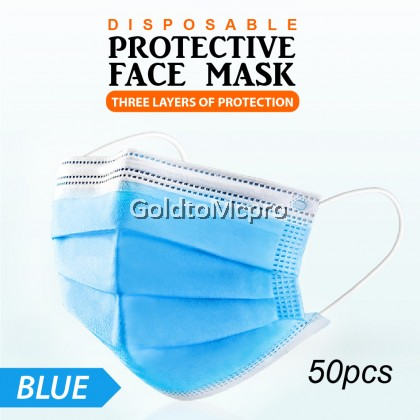3PLY FACE MASK DISPOSABLE Face Mouth Mask Filter (50PCS)