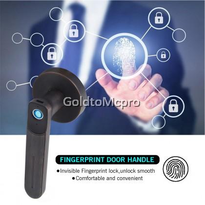 A CLASS SMART LEVEL LOCK Security Electronic Fingerprint Door Lock Keys/Fingerprint Unlock - Silver (B333ET-SN) / Black (B333ET-ORB)
