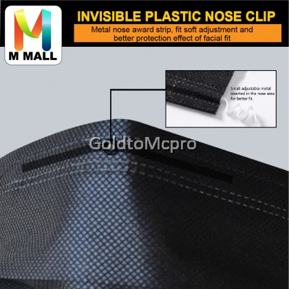 50 pieces / 10 pieces BLACK FACE MASK Disposable Face Mask 3Ply Face Mouth Mask Filter