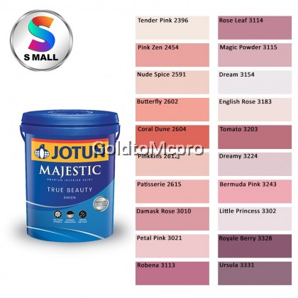 ** (2396-3331) 5L Jotun Interior Majestic True Beauty Sheen Shades of Red & Pink