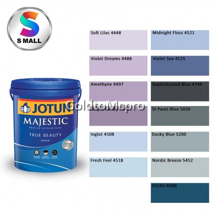 (4448-S5540-R90B) 15L Jotun Interior Majestic True Beauty Sheen Shades of Blue & Purple