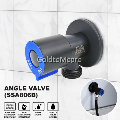 MCPRO Black Oxide Coated On Stainless Steel Bathroom & Kitchen faucet QUATER TURN ANGLE VALVE (SSA806B)
