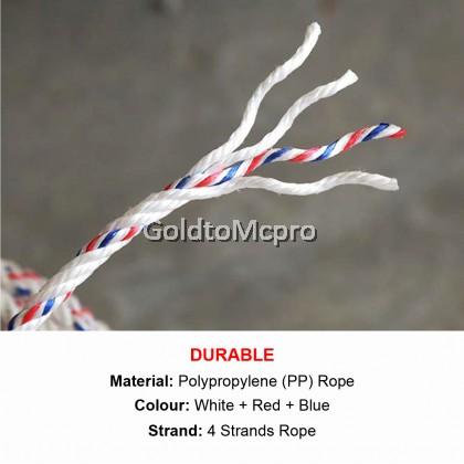 10 Meter (8mm) PP Polypropylene Nylon Rope / Tali Nylon Putih