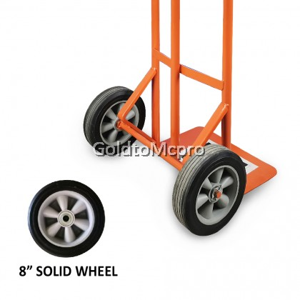 "TWO WHEEL HAND TRUCK 8"" Solid Wheel High Quality Hand Truck"