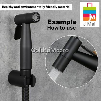 MCPRO PLUS Black Oxide Coated On Stainless Steel SUS304 Bathroom Faucet HAND BIDET SPRAY (SSBH04)