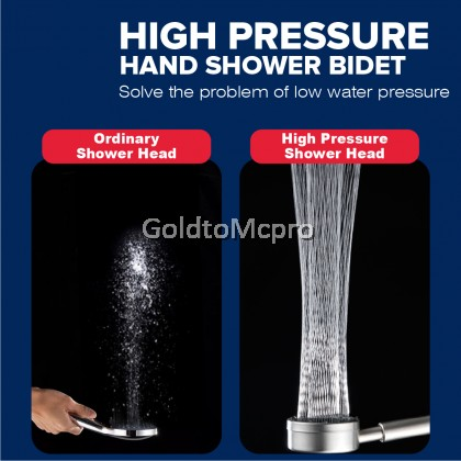 MCPRO STAINLESS STEEL SUS304 HAND SHOWER for Bathroom water-saving spiral water spray  (SH106)