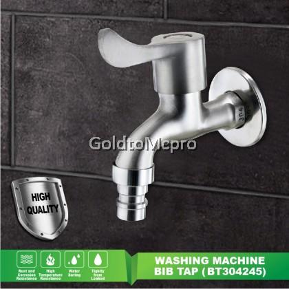 Satin Finish Wall Bathroom Faucet Washing Machine WALL BIB WATER TAP (BT304245)