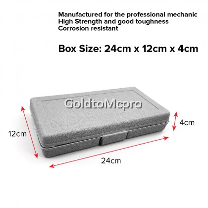 40pcs Multipurpose Chrome Socket Combination Spanner Ratchet Wrench Screwdriver Car Repair Tool Box Set