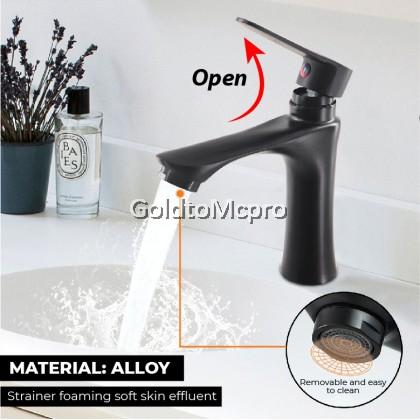 MCPRO Black Oxide Coated Bathroom Faucet PILLAR SINK BASIN WATER TAP - CY35B